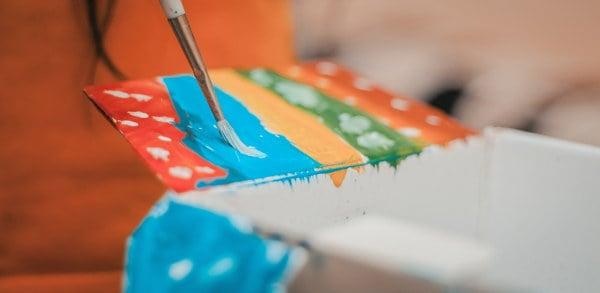 acuarela Diferentes pigmentos de colores